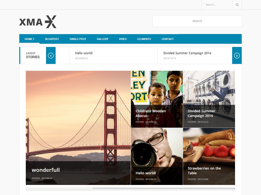 Xmax WordPress magazine theme