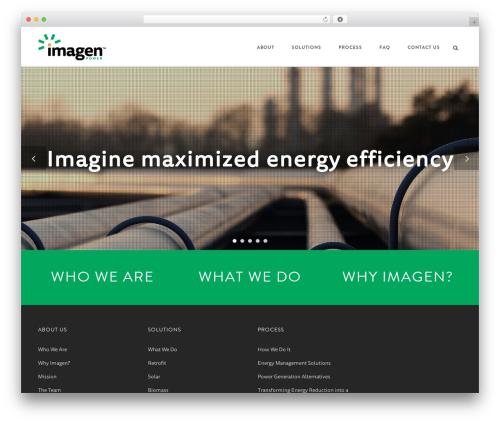 Aperio WordPress theme - imagenpower.com