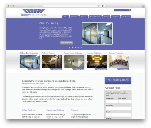 Best WordPress theme BLANK Theme - innovateprojects.co.uk