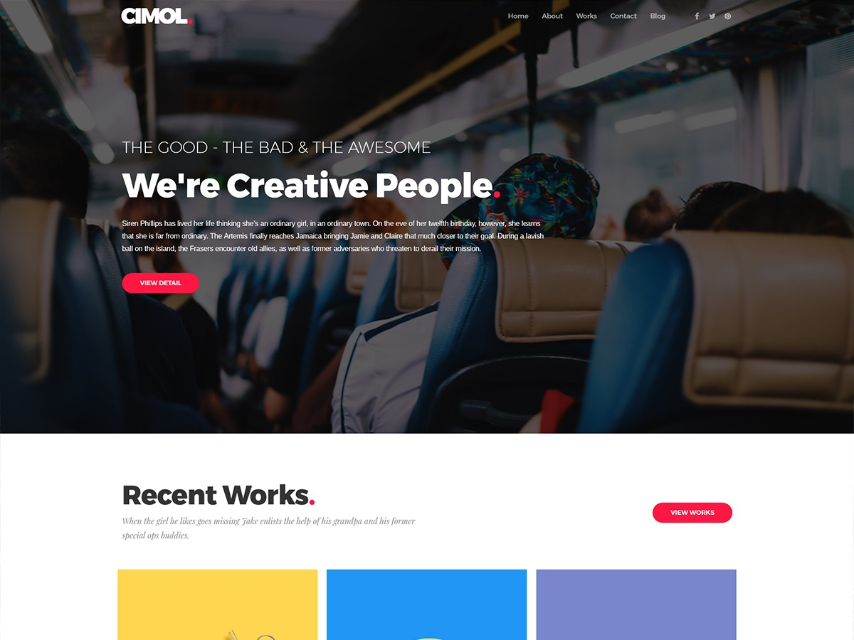 Cimol WordPress portfolio theme