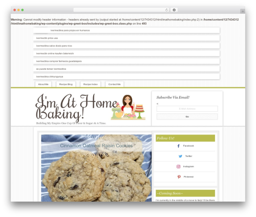 Innovative Child Theme WordPress theme - imathomebaking.com