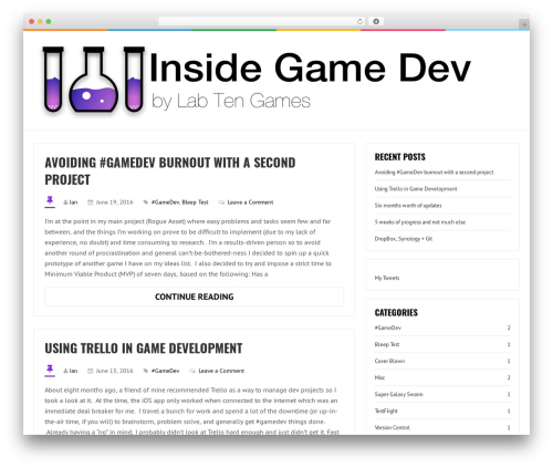 LiveBlog WordPress template free download - insidegamedev.com