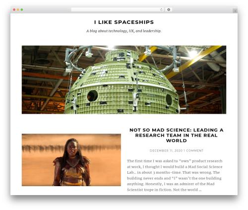 Munsa Lite WordPress page template - ilikespaceships.com
