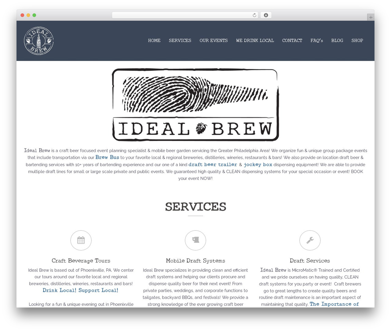 Sydney free WP theme - idealbrew.com