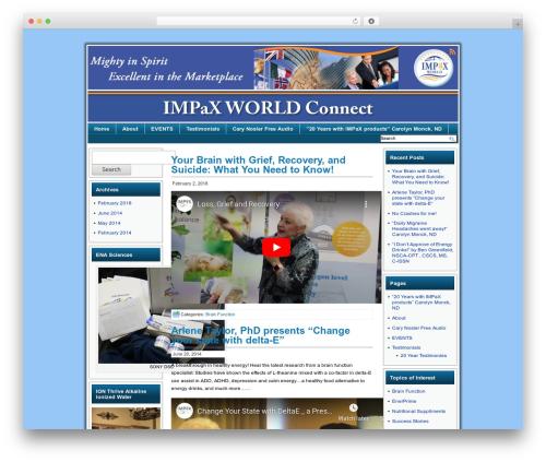 Theme WordPress Celestial Aura - impaxworldconnect.com