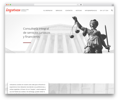 Theme WordPress Dejure - inproas.es