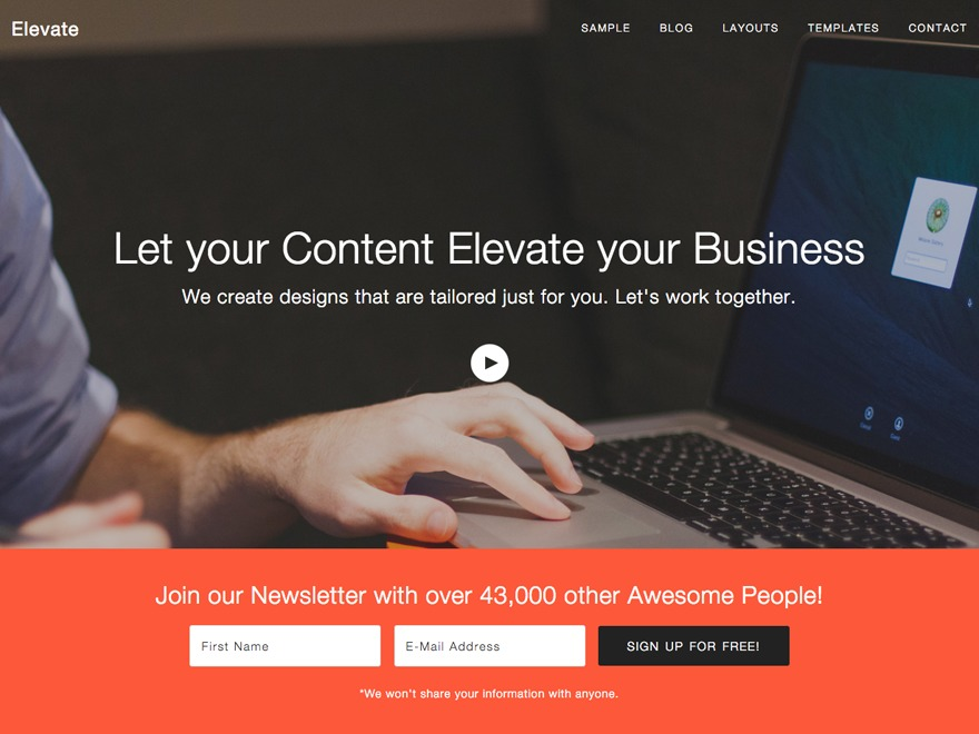 Theme WordPress Elevate Theme