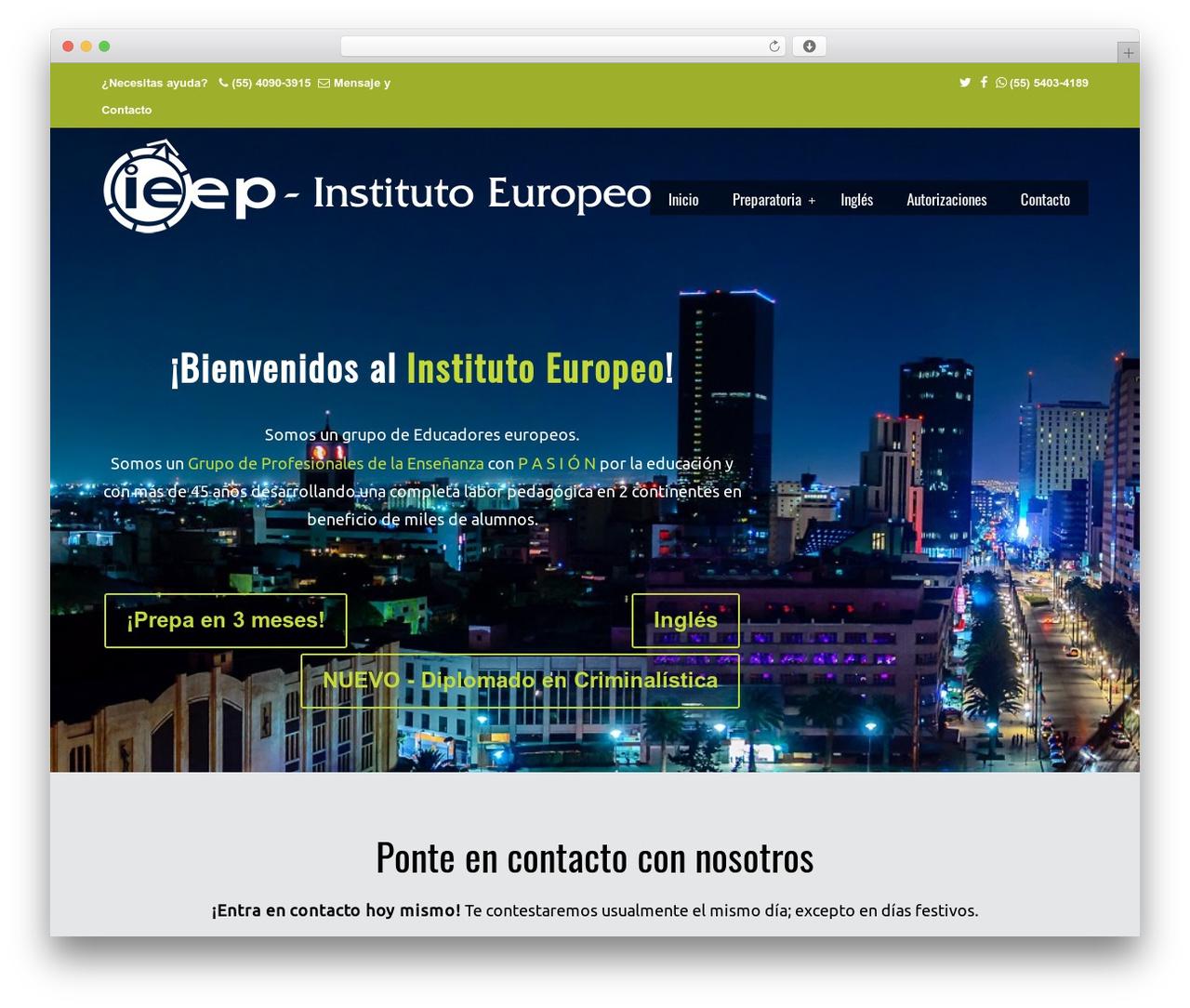 Theme WordPress U-Design - institutoeuropeo.mx