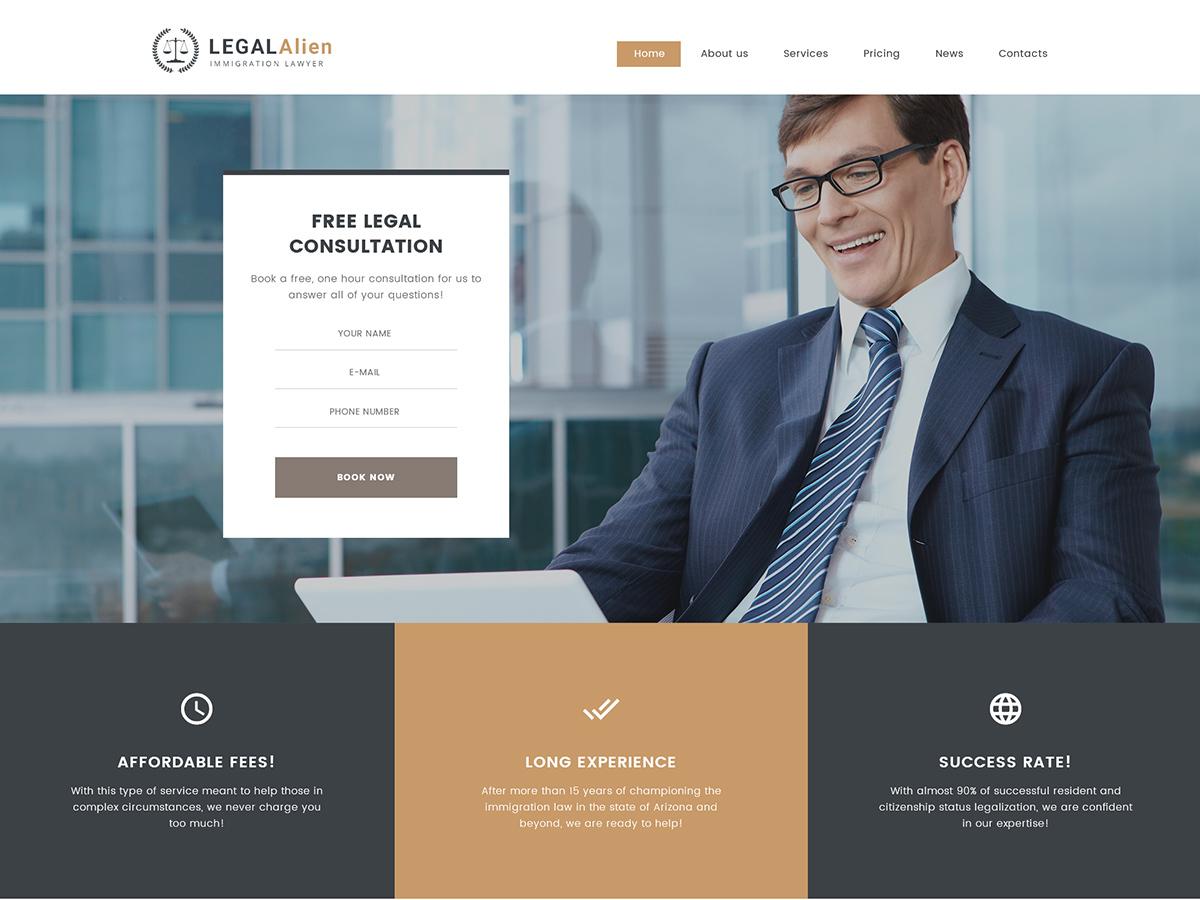 WordPress theme LegalAlien