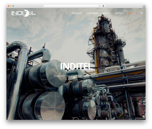Best WordPress theme Jupiter - inditel.es