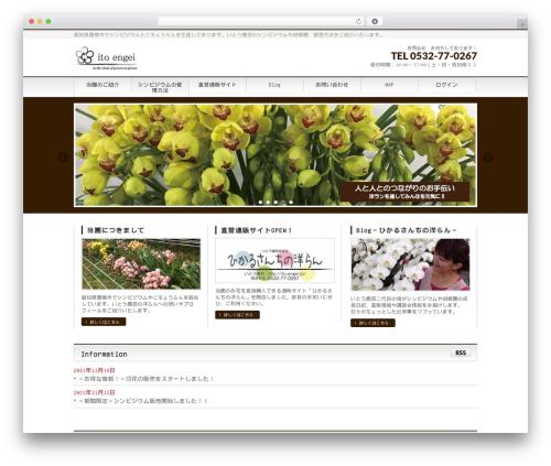 Free WordPress WP font-face plugin - ito-engei.jp