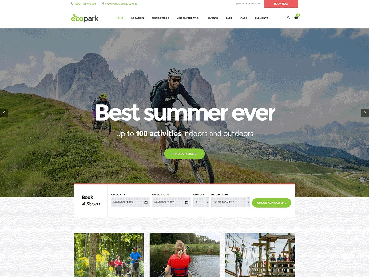 ecopark WordPress store theme