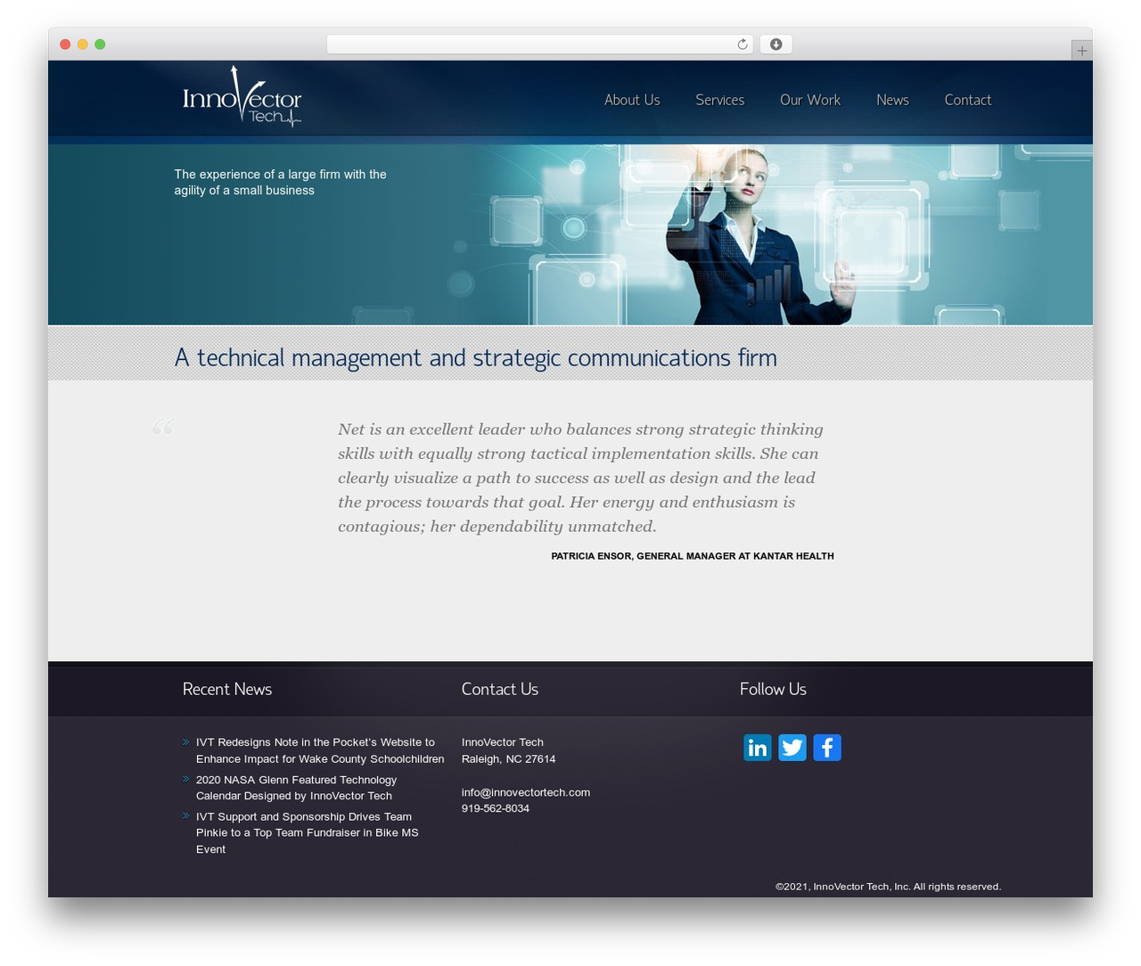 Envision Child company WordPress theme - innovectortech.com