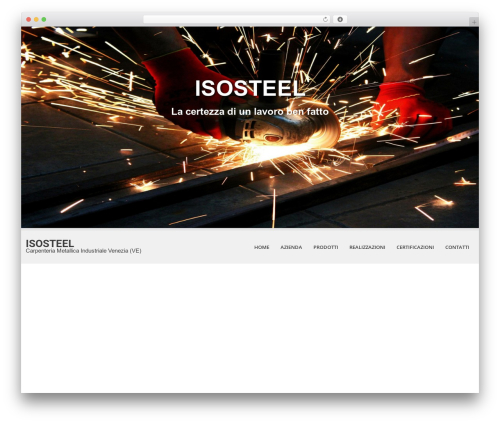 SKT White top WordPress theme - iso-steel.it