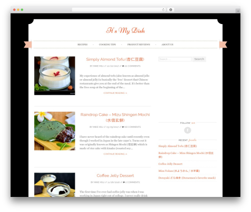 Sugar and Spice theme WordPress - itsmydish.com