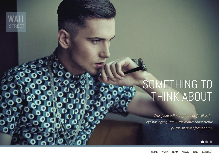 Wall Street WordPress template for business