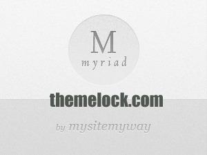 WordPress template Myriad (shared on link.com)