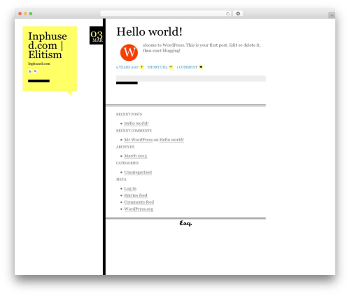 WP theme Esquire - inphused.com