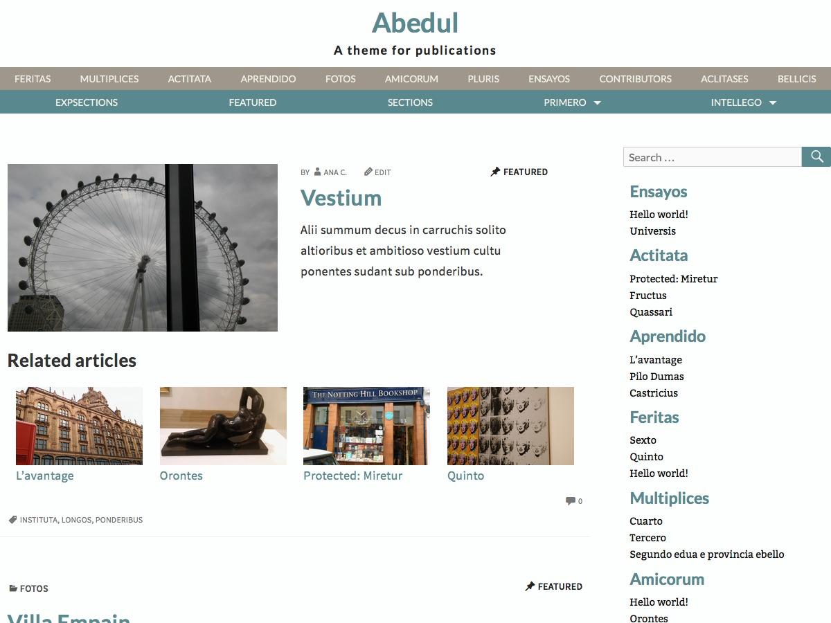 Abedul template WordPress free