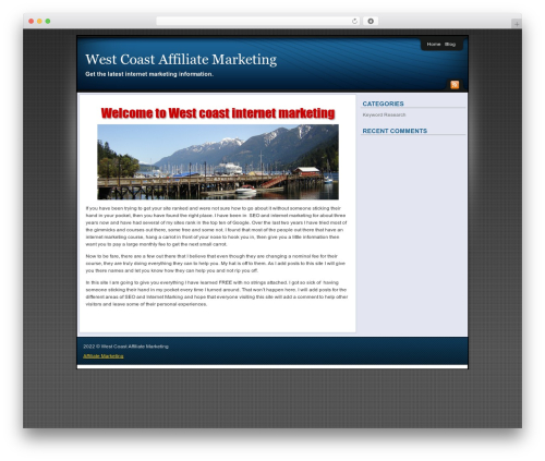 Affiliate Internet Marketing theme WordPress theme - westcoastaffiliatemarketing.com