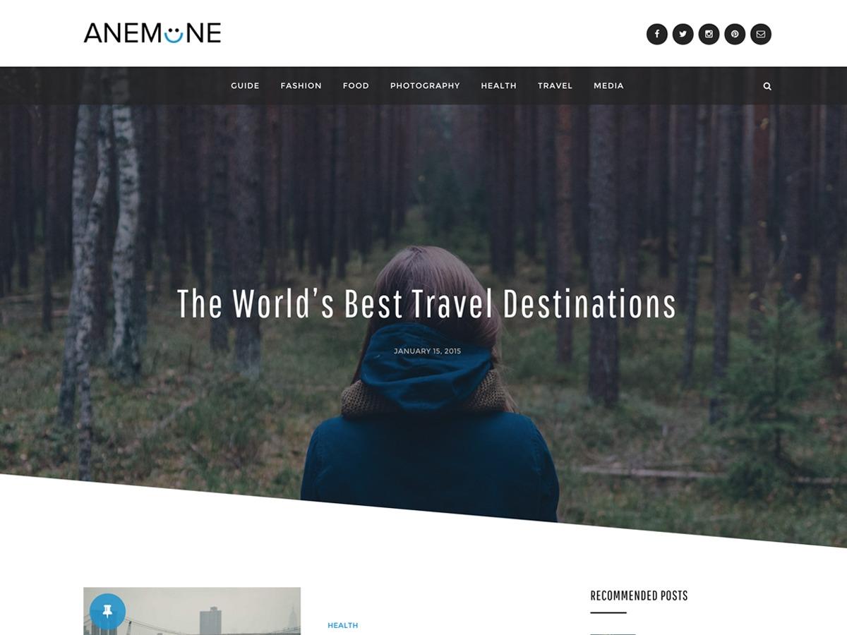 Anemone WordPress blog template