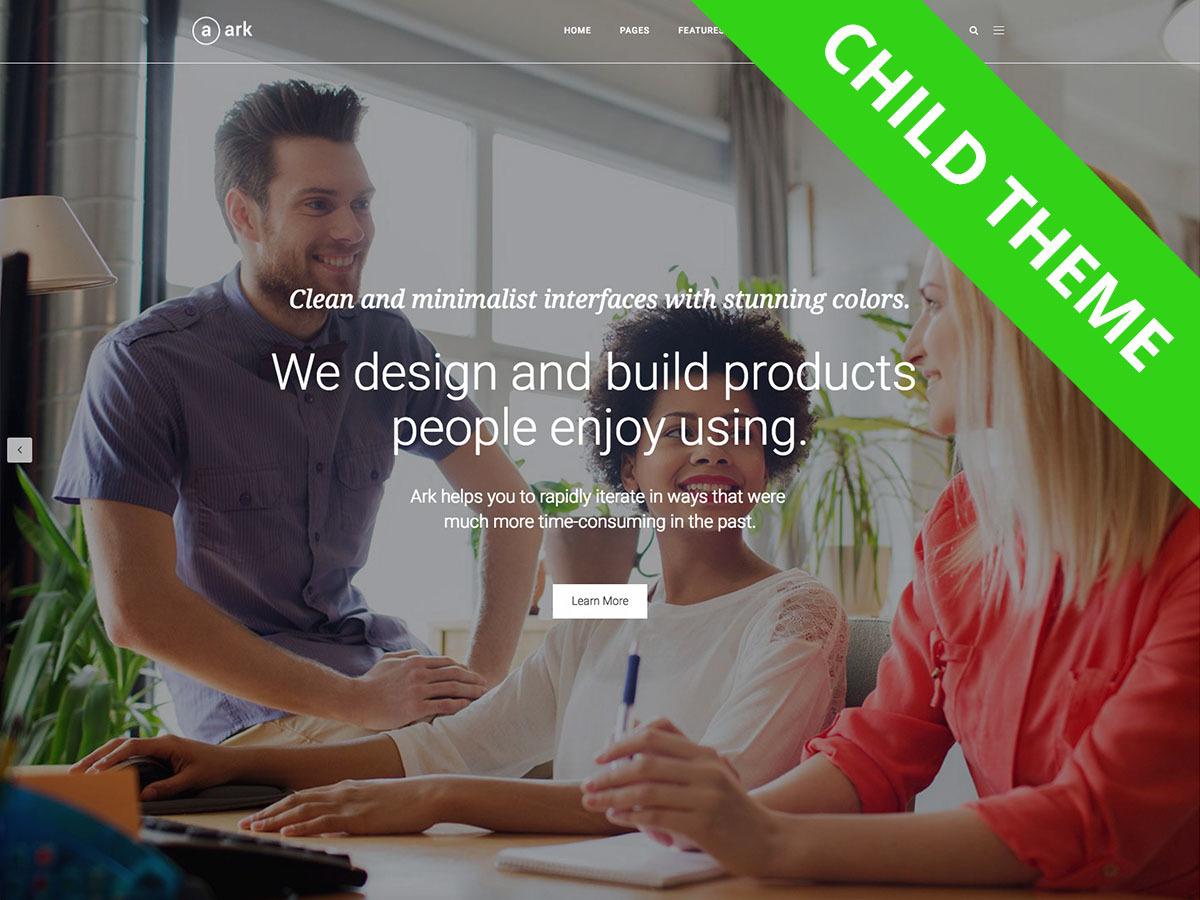 Ark - Child best WordPress template