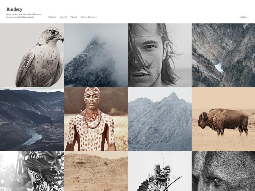 Bindery theme WordPress