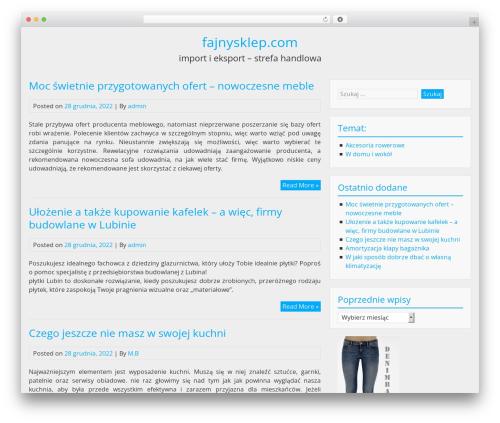 BlueGray free WordPress theme - fajnysklep.com
