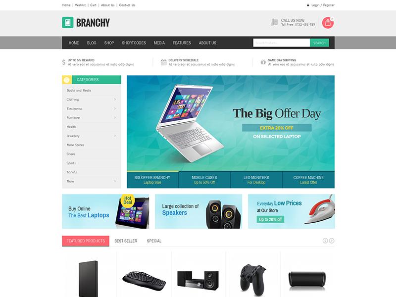 Branchy WordPress news theme