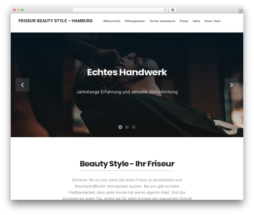 Businessx best free WordPress theme - friseur-beauty-style.de