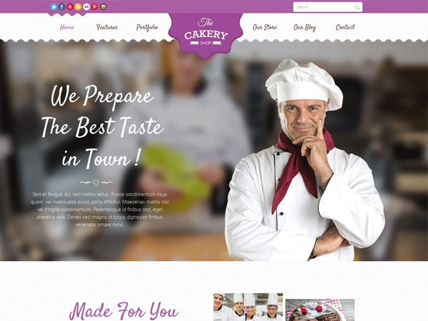 cakery WordPress shopping theme