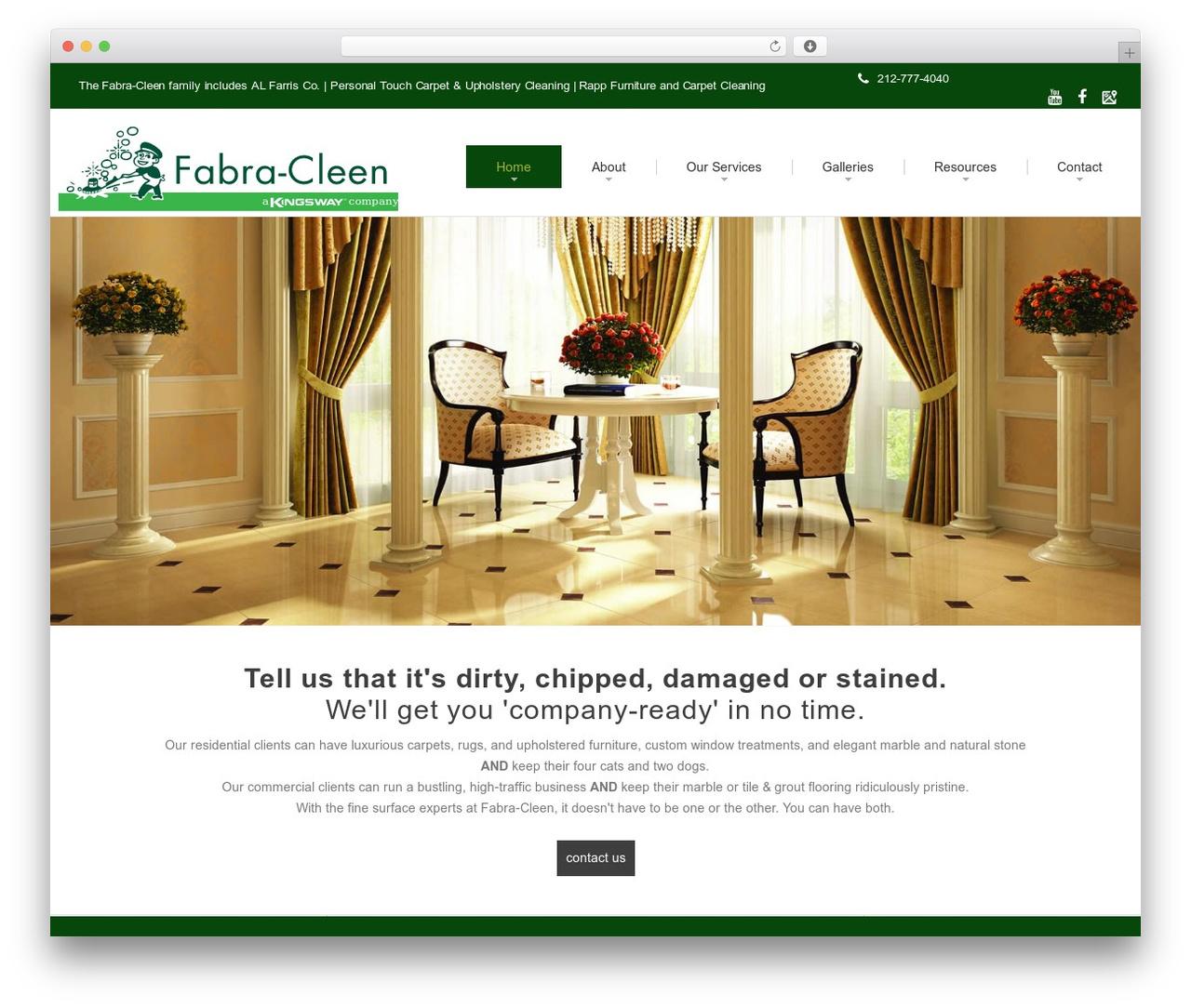 cherry WordPress theme - fabracleen.com