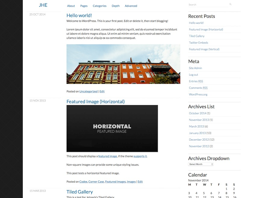 Clear Content WordPress blog template