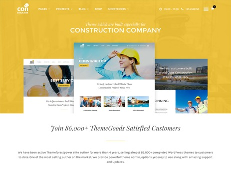 Constructor WordPress template for business