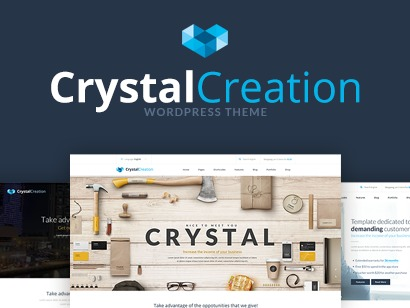 Crystal Wordpress Theme WP template