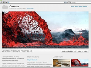 Cumulus WordPress portfolio template