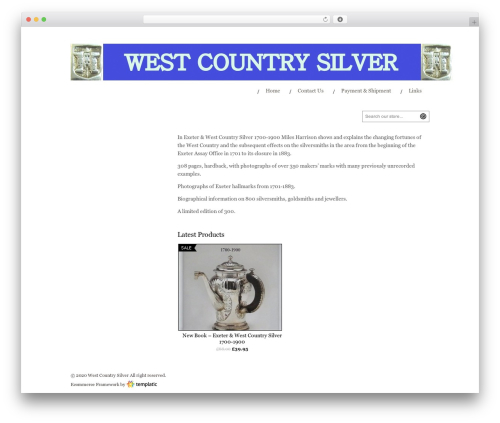 eCommerce top WordPress theme - westcountrysilver.co.uk