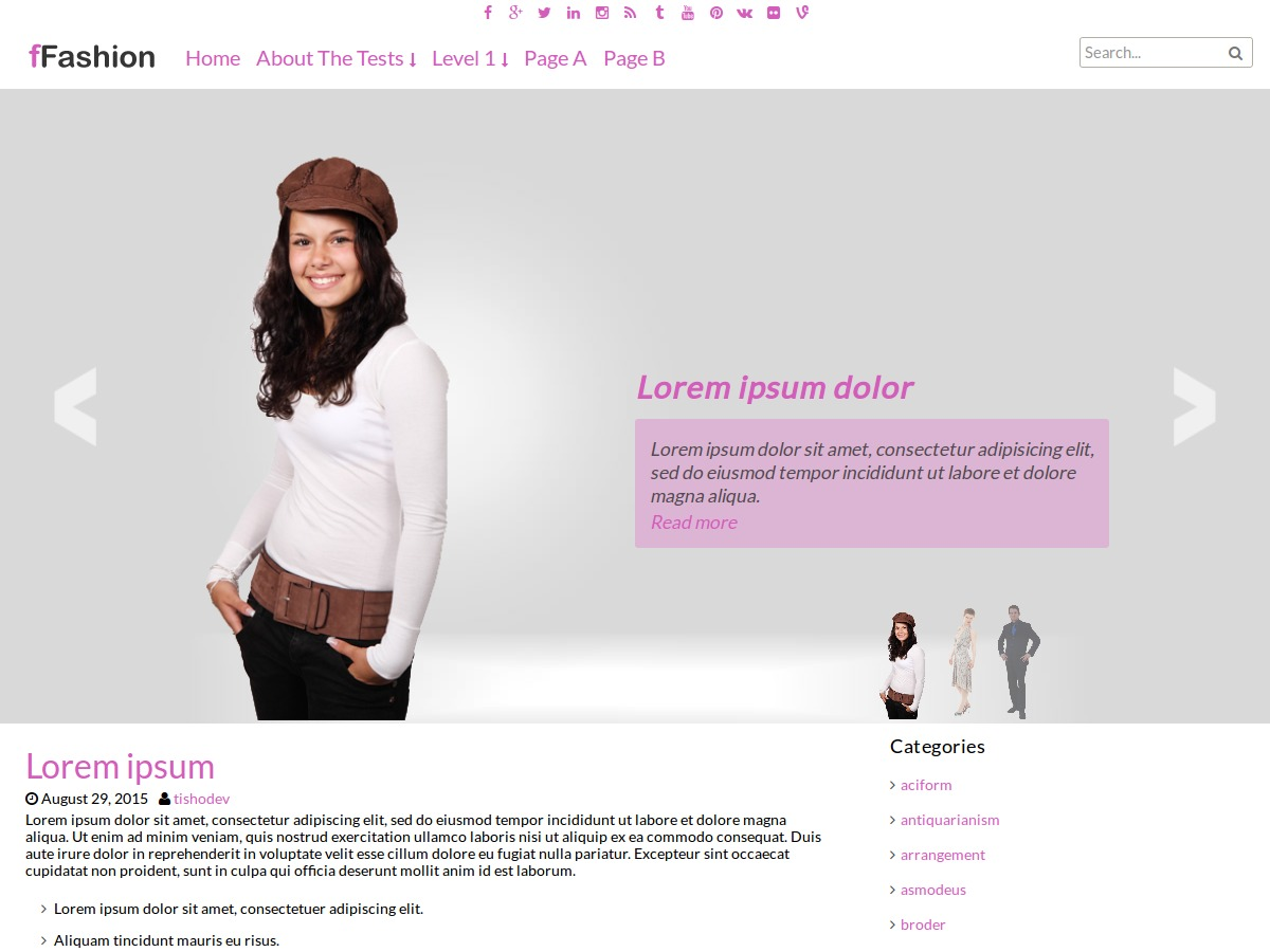 fFashion theme free download