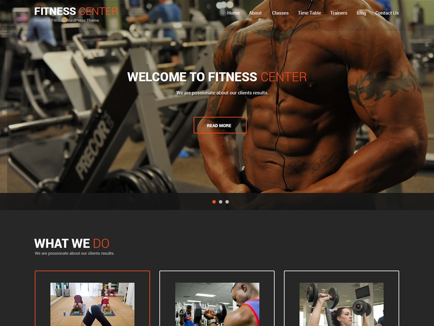 Fitness Lite WordPress shopping theme