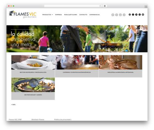 Flames WordPress restaurant theme - flamesvlc.com