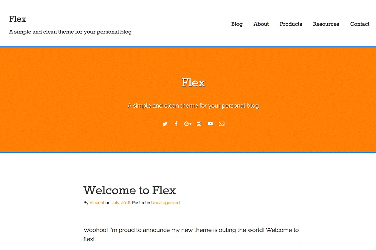 Flex-Lite theme free download