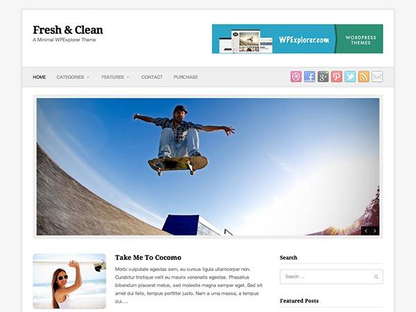 Fresh & Clean WP template