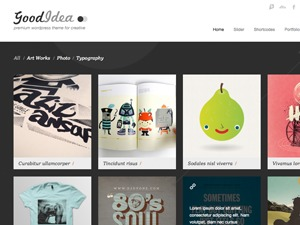 Goodidea Child WordPress page template