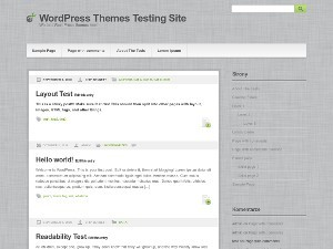 Gray Modern WordPress blog template