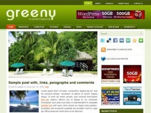 Greeny WordPress page template