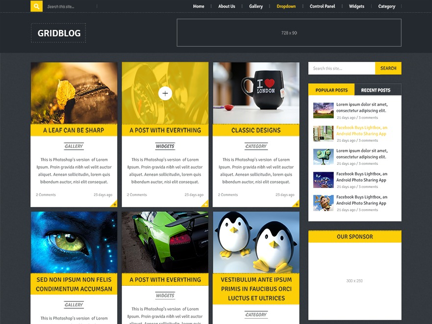 GridBlog by MyThemeShop WordPress store theme