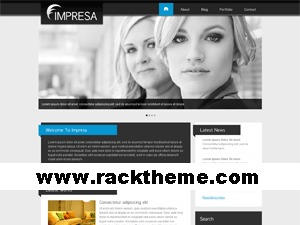 Impresa WordPress portfolio template
