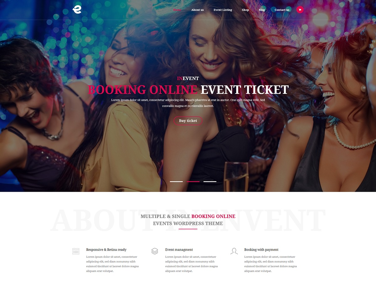 inEvent WordPress theme