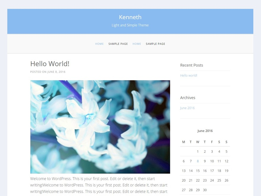 kenneth WordPress template free download