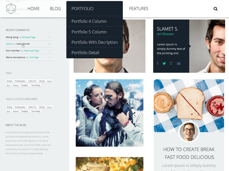 Krypton child top WordPress theme